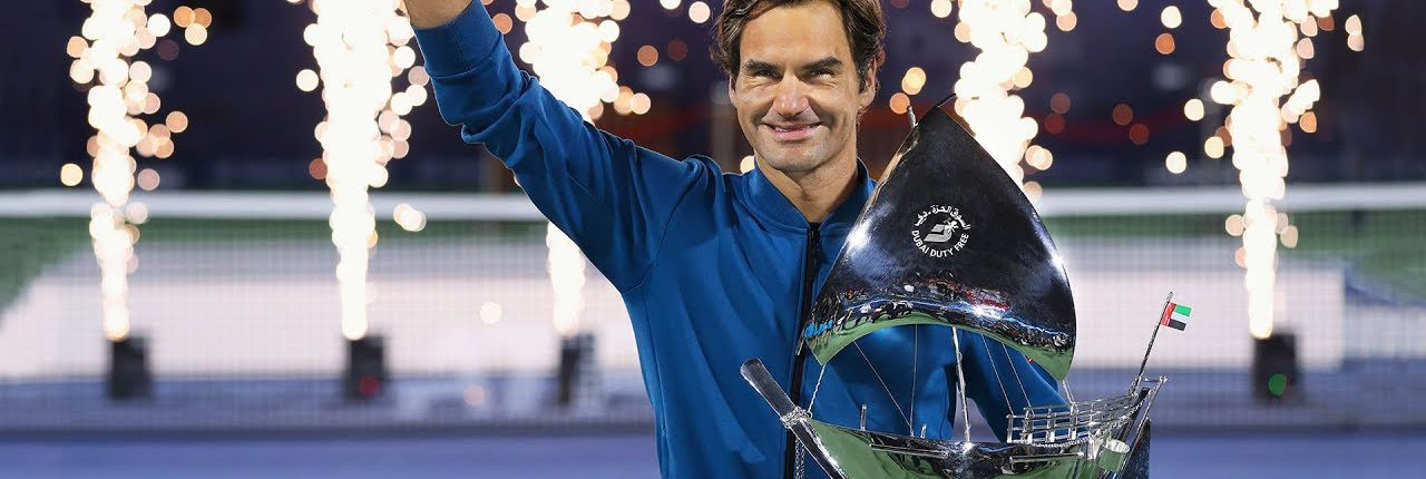 Rolex congratulates Roger Federer on capturing his 100th career title at the Dubai Duty Free Tennis Championships.
