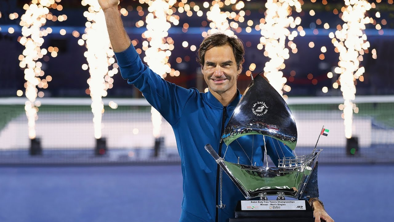 Rolex celebrates Roger Federer's 100th career title